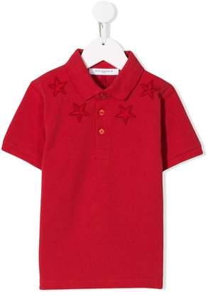 Givenchy Kids star embroidered polo shirt