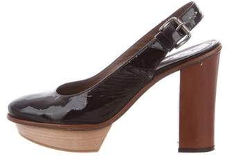 Marni Patent Leather Slingback Pumps