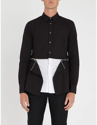 Alexander McQueen Zip-waist regular-fit cotton-poplin shirt