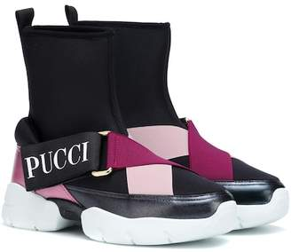 Emilio Pucci Neoprene high-top sneakers