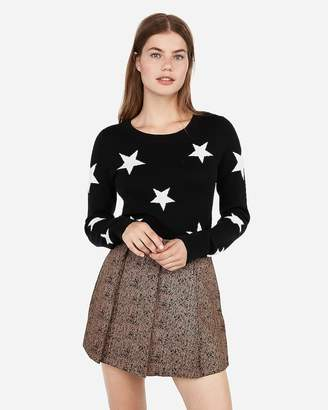 Express Fitted Star Print Sweater