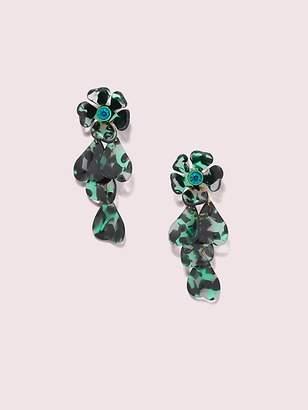 Kate Spade Petal Pushers Linear Earrings, Green