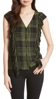 Women's Alice + Olivia Janet Side Ruffle Blouse