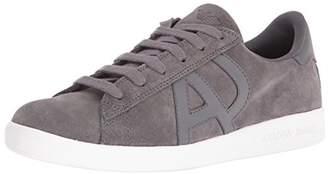 Armani Jeans Men's Low Top Suede Lace Up Logo Sneaker