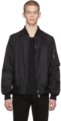Valentino Black Rockstud Untitled 15 Bomber Jacket