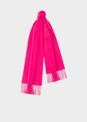 Paul Smith Bright Pink Cashmere Scarf