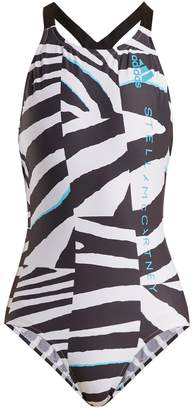 29ad9f0cf74 COM · adidas by Stella McCartney Train zebra-print swimsuit