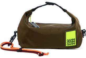 Ganni Appliquéd Shell Clutch - Army green