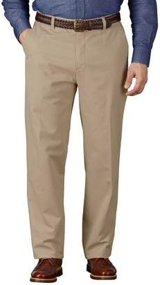 Charles Tyrwhitt Stone Classic Fit Flat Front Washed Cotton Chino Pants Size W38 L30
