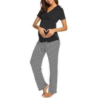 3fd0d3c3b2b Toponly women T-shirt Toponly Pregnancy Pajamas Sets,Women Maternity V-Neck  Nursing