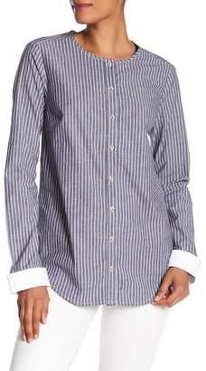 Michael Stars Stripe Contrast Button Down Shirt