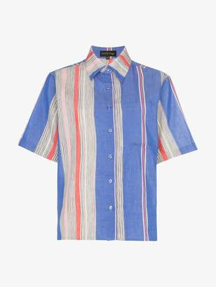 A Peace Treaty Tarouba stripe print cotton silk-blend shirt