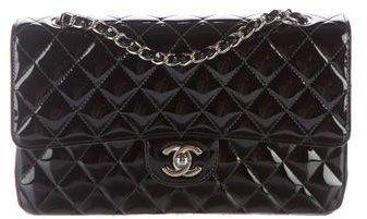 Chanel Patent Classic Medium Double Flap Bag