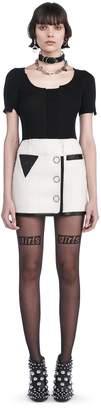 Alexander Wang Mini Wrap Skirt With Triangle Pocket