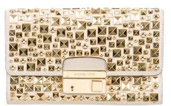 Michael Kors Studded Gia Clutch - NEUTRALS - STYLE