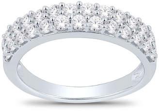 MODERN BRIDE Womens 4.5MM 1 CT. T.W. Genuine White Diamond 14K White Gold Wedding Band