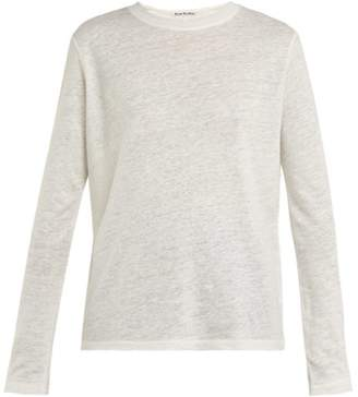Acne Studios Taline Linen Top - Womens - White
