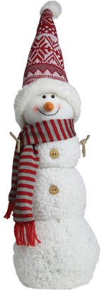 Northlight Snowman with Red/Gray Striped Scarf Christmas Tabletop Decoration