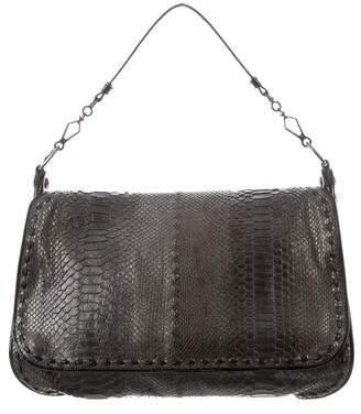 Bottega Veneta Metallic Python Messenger Bag