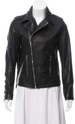 RtA Denim Zip-Up Leather Jacket