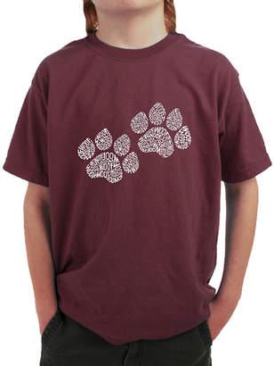 LOS ANGELES POP ART Los Angeles Pop Art Woof Paw Prints Graphic T-Shirt Boys