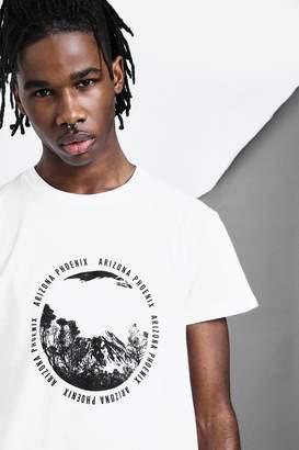 boohoo Scenery Design Print T-Shirt