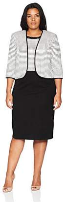 Maya Brooke Women's Size Two Tone Beaded Jacket Dress Plus