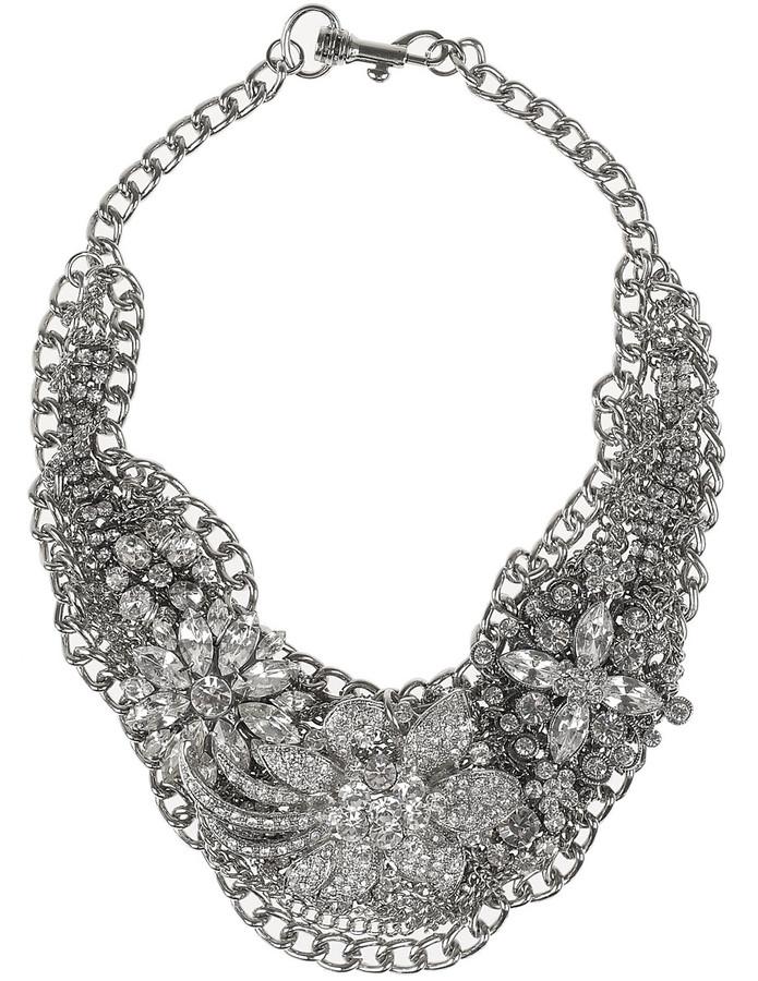 Lulu Frost Glass crystal bib necklace