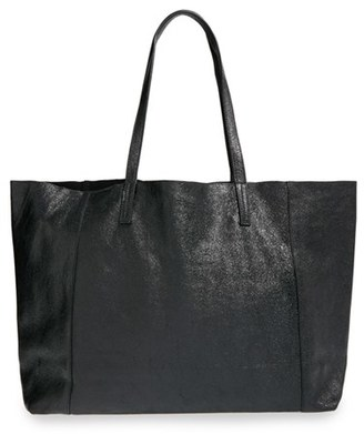 Street Level Slouchy Metallic Leather Tote $98 thestylecure.com