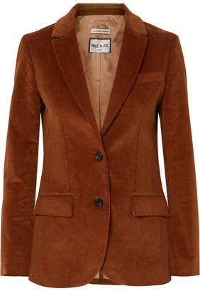 Paul & Joe Cecile Cotton-corduroy Blazer - Brown