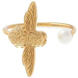 Olivia Burton Cultured Freshwater Pearl Bee Cocktail Ring