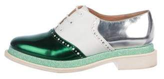 Robert Clergerie Multicolor Round-Toe Oxfords