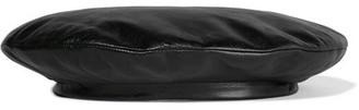 Gucci - Leather Beret - Black $490 thestylecure.com
