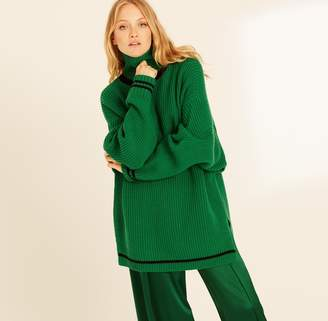 Amanda Wakeley Emerald High Neck Oversized Knit