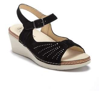 Eric Michael Misha Perforated Wedge Heel Sandal