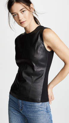 Theory Modern Seamed Shell Top