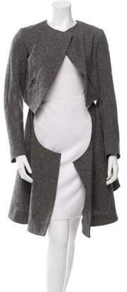 Saint Laurent Knee-Length Wool Coat