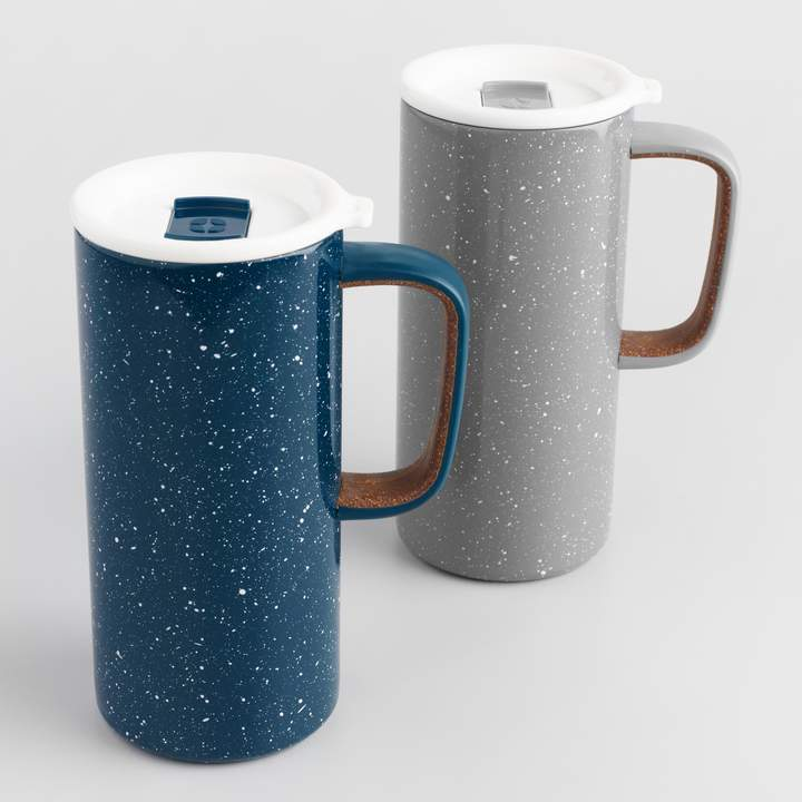 Cost Plus World Market Ello Campy Insulated Stainless Steel Travel Mugs Set of 2