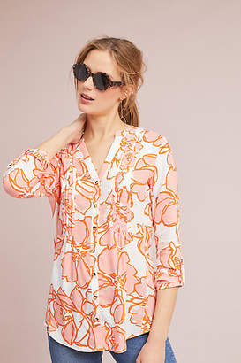 Maeve Pintucked Floral Buttondown