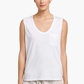 0bf8d85aab515 White Tank Top With Pocket - ShopStyle