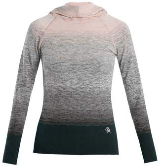 Pepper & Mayne - Hooded Ombré Compression Performance Top - Womens - Light Pink