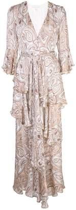 Shona Joy paisley pattern ruffle dress