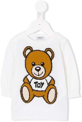 Moschino Kids Toy Bear intarsia knit