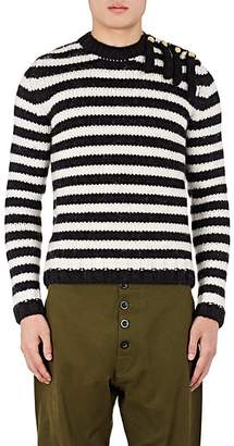 c0c850d7d9 Loewe Men s Fringe Striped Wool-Alpaca Sweater