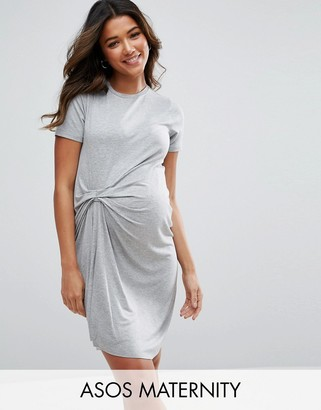ASOS Maternity T-Shirt Dress With Gathered Front $38 thestylecure.com