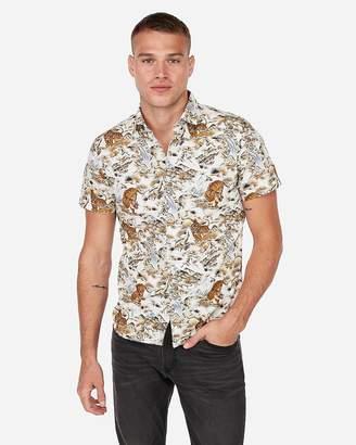 Express Tiger Short Sleeve Shirt