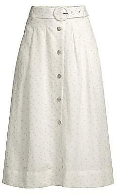 ea7aeb311 Rebecca Vallance Women's Holliday Polka Dot Linen-Blend A-Line Skirt - Size  0