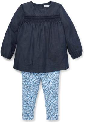 Ralph Lauren Kids Smocked Top Floral Legging