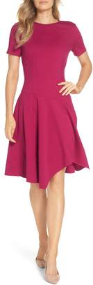 Eliza J Drop Waist Fit & Flare Dress