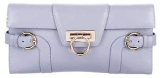 Salvatore Ferragamo Leather Gancio Clutch